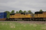 UP 4516 Is #3 On A EB Container Train